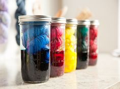 Dye your own gorgeous yarns in every color of the rainbow using mason jars. Tulip Custom ColorLab dyes are perfect for mason jar dyeing! Available at Joann.com