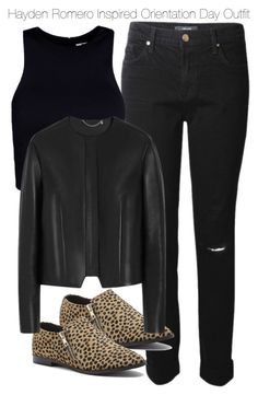 """""""Hayden Romero Inspired Orientation Day Outfit"""" by staystronng ❤ liked on Polyvore featuring J Brand, Sole Society, T By Alexander Wang, Mulberry, college, tw and HaydenRomero"""