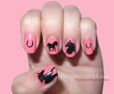 Cute Horse Nail Art Designs  #HorseNailArt