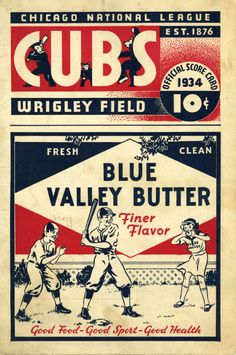 Chicago Cubs Scorecard from 1934  http://www.idaillinois.org/cdm/compoundobject/collection/lincolnw001/id/4