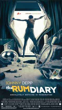 johnny depp movie posters | The movie poster for The Rum Diary with Johnny Depp, Giovanni Ribisi ...