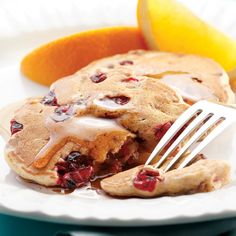 Start your day off right with these easy pancakes, packed with cranberry's sour spike. One of you can make the coffee and heat the maple syrup while the other makes the pancakes. It's instant relationship bliss.