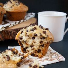 Chocolate Chip Muffins Holidays call for chocolate chips for breakfast.
