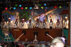 Bühnenbild Boot