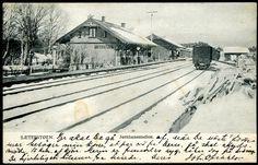 Akershus fylke Nes kommune Romerike SÆTERSTØEN - Sæterstøa - Seterstøa Jernbanestation vinterstid før 1905 utg Schønberg, stpl. Sæterstøen 1905