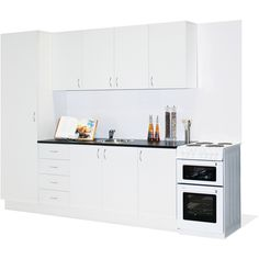 Find Practa Complete Modular Economy Kitchen Pack at Bunnings Warehouse. Visit your local store for the widest range of kitchen & laundry products. Kitchen Interior, Interior Decorating Kitchen, Kitchen Design Small, Traditional Kitchen Decor, Kitchen Modular, Straight Kitchen, Kitchen Layouts With Island, Kitchen Layout, Kitchen Design