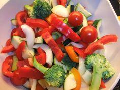Laks og grønnsaker i ovn.   Lavkarbo gjort enkelt