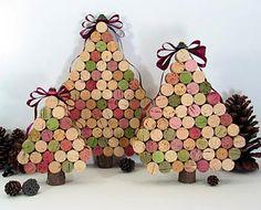 Mini árvores de rolhas de garrafa, dica de reciclagem