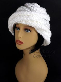 White Knit Hat Womens Hat Trendy Womens Knitted Hat White Hat Oversized Hat Knitted Hat Women OMBRETTA Oversized Knitting Beanie Hat by strawberrycouture by #strawberrycouture on #Etsy