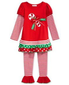 Bonnie Jean 2-Pc. Holiday Tunic & Leggings Set, Toddler Girls (2T-5T) & Little Girls (2-6X)