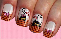 Cat Nail Art, Cat Nails, Ruby Nails, Fancy Nails, Beautiful Nail Art, Nail Art Designs, 3 D, Make Up, Tattoo Design Drawings