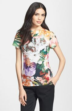 Ted Baker London Print Seamed Top available at #Nordstrom