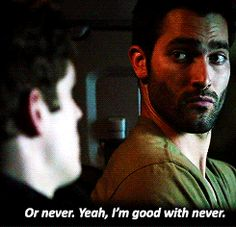 Like trying to ask Derek about his long-lost sister, Cora