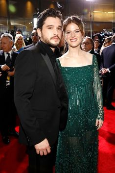 Kit Harington and wife Rose Leslie at the Annual Golden Globe Awards 2020