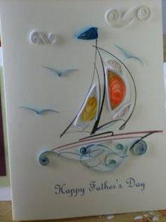 Дню рыболовства, открытка папе с днем рождения квиллинг