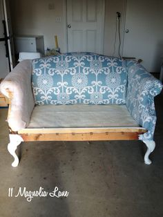 Reupholstery 101: My Thrift Store Loveseat Redo {Part 2–Tutorial}