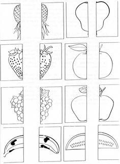 Menta Más Chocolate - RECURSOS PARA EDUCACIÓN INFANTIL: Juegos Didácticos: Forma Pareja de Frutas