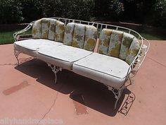 woodard wrought iron patio furniture set sofa chaise 2 chairs coffee u0026 end table