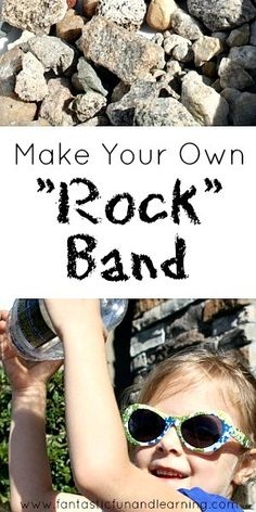 "Explore sound and make music with rocks and containers. Play simple beats to make your own ""rock band."""