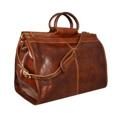 9209341a09 Leather Travel Bag, Duffel Bag, Weekend Bag, Overnight Bag, Brown Leather  Bag - Robinson Crusoe