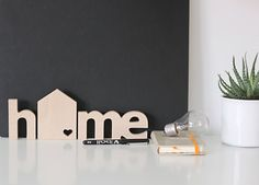 Living room wall art idea! Hey, I found this really awesome Etsy listing at https://www.etsy.com/listing/178796199/home-wooden-letters-wooden-text-home