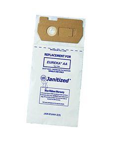 jan eumm 10 premium replacement commercial vacuum paper bag for eureka mighty