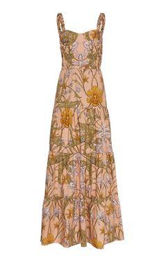 Reflect Beauty Floral Printed Maxi Dress by Johanna Ortiz Beautiful Maxi Dresses, Pretty Dresses, Beautiful Outfits, Beautiful Clothes, Day Dresses, Dresses For Sale, Summer Dresses, Summer Outfits, Ladies Dress Design
