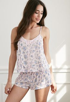 Clustered Rose PJ Set | Forever 21 - 2049257262