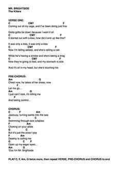 The killers-mr brightside ukulele