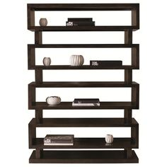 Mercer Contemporary Etagere with Modern Asian Furniture Style by Bernhardt - Baer's Furniture - Open Bookcase Miami, Ft. Lauderdale, Orlando, Sarasota, Naples, Ft. Myers, Florida