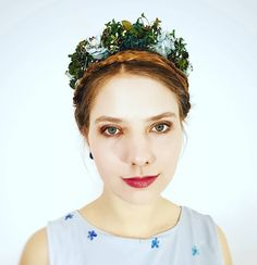 """Emily"" from the collection Headpieces, Flower Crown, Traditional, Hats, Collection, Fashion, Floral Wreath, Fascinators, Bridesmaids"
