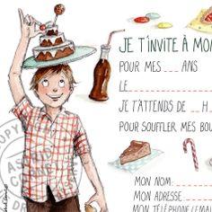 Carte invitation anniversaire enfant gratuite à imprimer