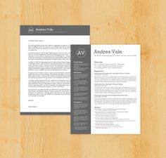 similar, but not the same, style for cv and cover letter
