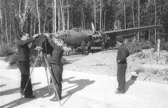 Bomber A-20 'Boston' board '30 'crew Future Hero of the Soviet Union AM Gagieva, 1st GMTAP (mine-torpedo Guards Aviation Regiment). The day before the crew sank Gagieva German transport displacement of 6000 tons.