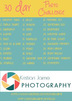 Day One of the July Photo Challenge! Let's get started!