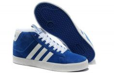san francisco e9a22 1880f Adidas NEO Uomo Anti-fur high top Trainer Blu medio   Bianco milano offerta  online