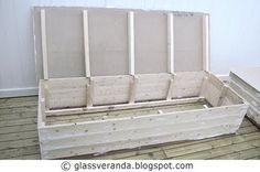 Glassveranda: Gjør-det-selv/DIY: Slik bygger du et koselig sofabenk-hjørne på terrassen - Del 1