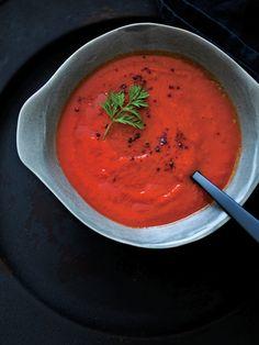 Recipe : にんじんとパプリカのチリスープ/スモーキーなコクと辛さが絶妙