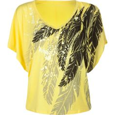 I usually don't like yellow too much, but I love this shirt!