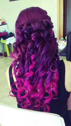 Pink amd purple curls