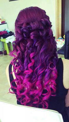 Pink amd purple curls