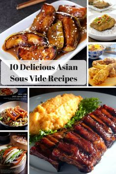 10 Delicious Asian Sous Vide Recipes - asian recipes prepared with sous vide including babyback ribs, eggplant, fried chicken, seafood, po - Boneless Pork Ribs, Pork Ribs Grilled, Smoked Pork Ribs, Baked Pork, Bbq Pork, Bbq Grill, Pork Rib Recipes, Asian Recipes, Mexican Food Recipes