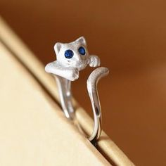 [Visit to Buy] Hot Sale 925 Sterling Silver Personality Cat Rings For Women Christmas Gift Finger Ring Fashion sterling-silver-jewelry #Advertisement