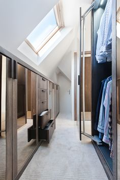 Bedroom Cabinets: InHouse Interiors creative walk in storage solutions in 2019 Loft conversion bedroom, Loft Attic Bathroom, Attic Rooms, Attic Spaces, Small Spaces, Attic Playroom, Attic Apartment, Loft Conversion Dressing Room, Loft Conversion Bedroom, Attic Conversion Walk In Wardrobe