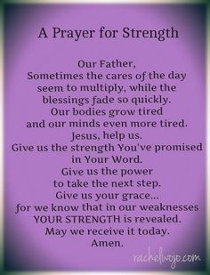 Prayer For Healing And Strength A prayer for s.