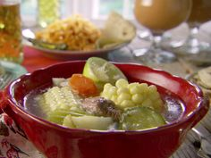 Making this for my hubby tonight :)                            Beef Soup (Caldo de Res) Recipe : Marcela Valladolid : Food Network -