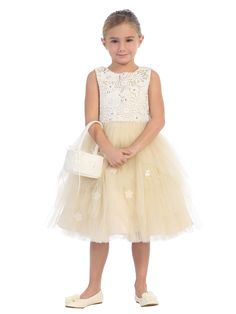 527c55b1303 Girls Dress Style 5654- Sleeveless Lace and Tulle Dress In Choice of Color