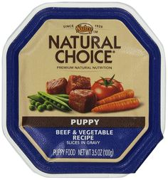 NATURAL CHOICE Puppy Beef and Vegetable Recipe Slices in Gravy Tray - 3.5 oz. (100 g), Pack of 24 *** Tried it! Love it! Click the image. : Dog food types