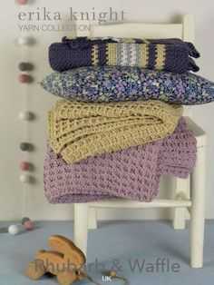 Baby blankets and throws knitting patterns by Erika Knight: get them at LaughingHens.com