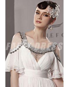 robe de soirée chic · Amazon.com  Orifashion Womens Long White Empire  A-line Evening Dress  Clothing 4537a4835e90
